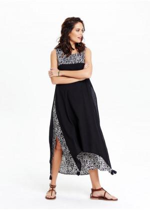 Maxi Summer Dress - E55black1