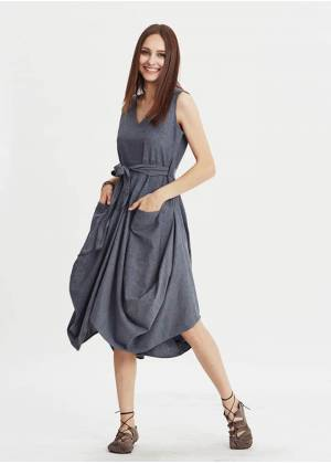 Long Dress - E22grey