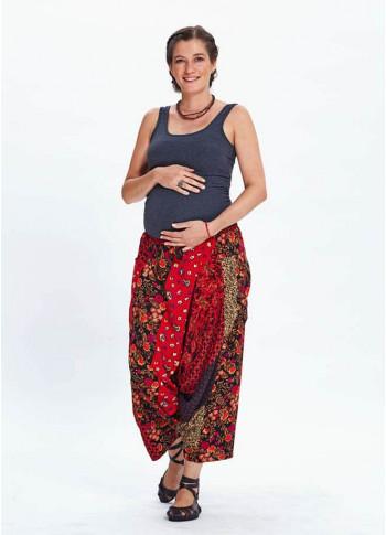 Patch Print Hippie Style Wholesale Maternity Capri Harem Pants