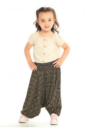 Kids Ethnic Hitit Shirred Elastic Waistband Harem Pants