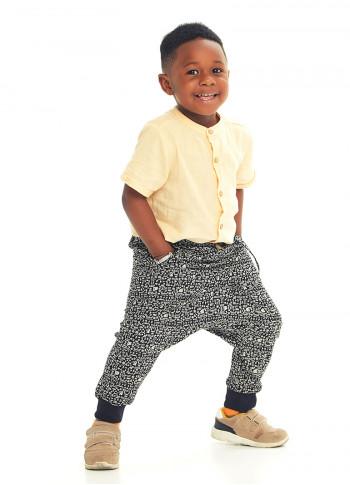 Kids Elastic Ankle Cuffs Low Rise Hitit Man Pants
