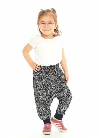 Kids Elastic Ankle Cuffs Low Rise Hitit Pants