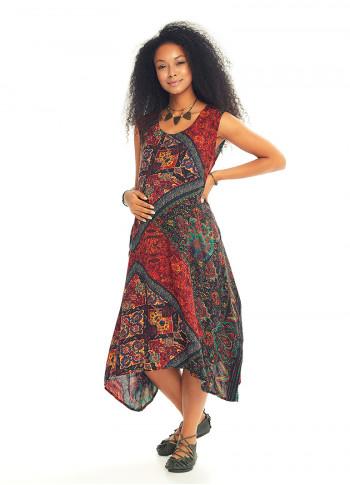 Ethnic Print Bohemian Style Maternity Wholesale Wrap Dress