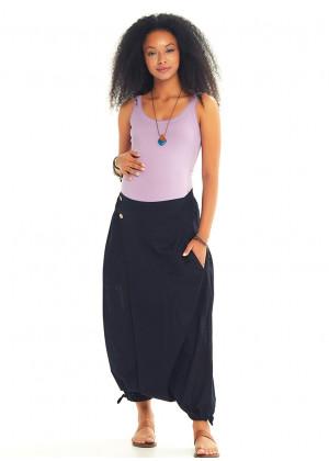 Elastic Waist Wrap Front Wholesale Gypsy Style Black Harem Maternity Pants