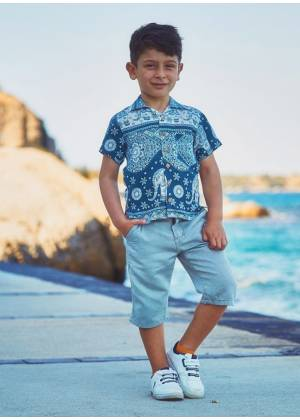 Kids Patterned Comfortable Fit Shirt