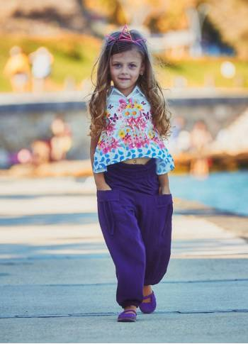 Kids Bohemian Purple Shawl