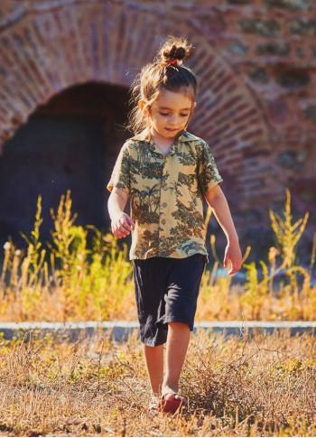 Children's Patterned Comfortable Cut Boy Shirt