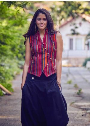 Gypsy Style Boho Wholesale Striped Shirt