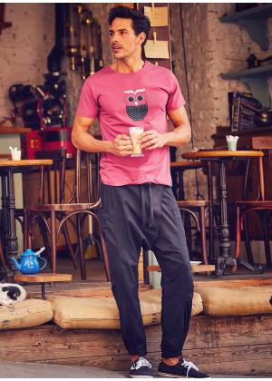 Elastic Waist Hippie Style Mens Wholesale Black Drop Crotch Pants