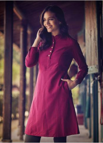 Mandarin Collar Tie Back Long Sleeve Red Dress