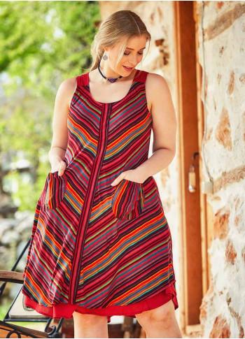 Plus Size Striped Sundress