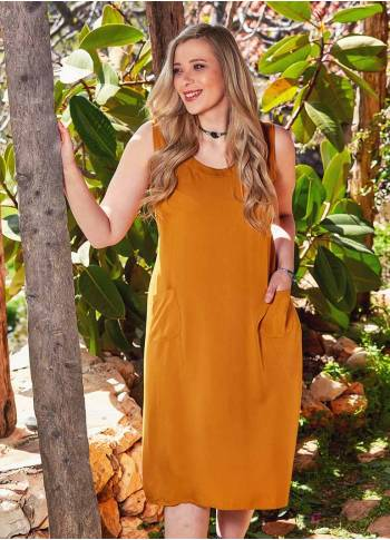 Wrap Detail Button Closure Sleeveless Boho Plus Size Summer Dress