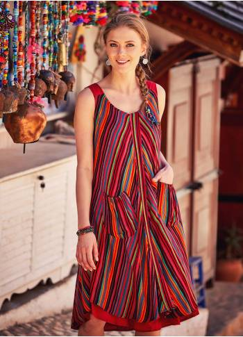 Red Striped Sundress