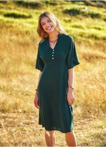 Bohemian Style Half Sleeve Midi Dress