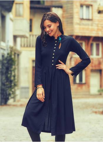 Coconut Button Down Mandarin Collar Long Sleeve Black Tunic Dress