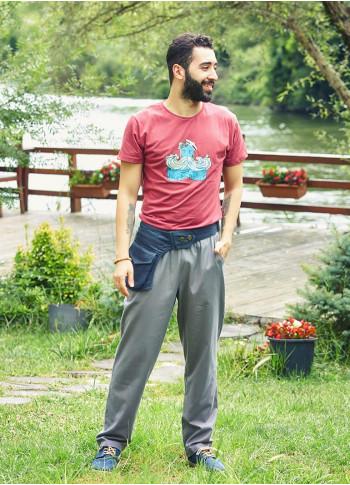Loose Fit Hippie Style Mens Wholesale Cotton Drawstring Pants