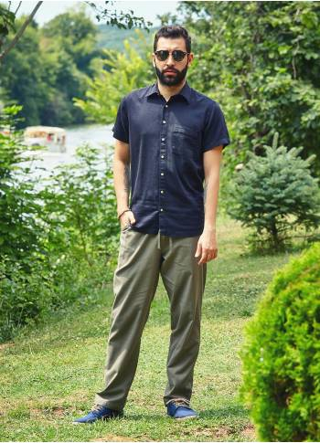 Loose Fit Casual Bohemian Mens Wholesale Drawstring Pants