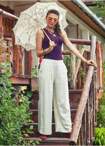 Frilled Pocket Detail Bohemian Style Wholesale Palazzo Pants