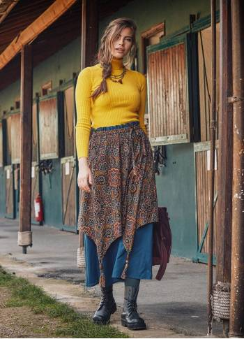 Maxi Layered Skirt