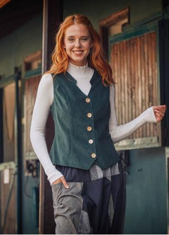 Bohemian Style Women's Green Vest
