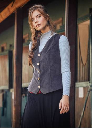 Bohemian Style Women's Anthracite Vest