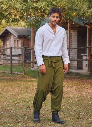 Khaki Thai Men's Fisherman Pants