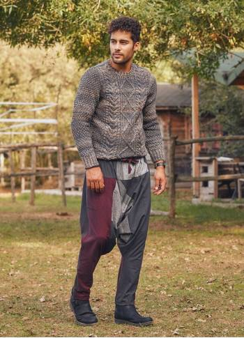 Men's Claret Red Winter Trousers