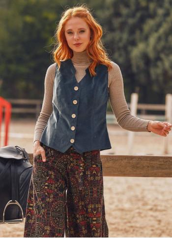 Bohemian Style Women's Petrol Vest