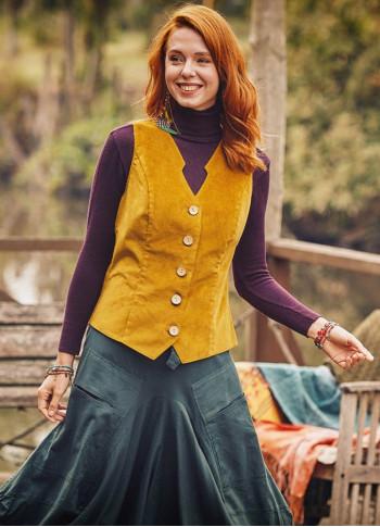 Bohemian Style Women's Mustard Vest