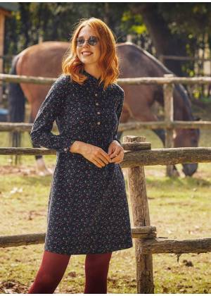 Long Sleeve Black Pattern Dress
