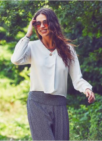 Boho Long Sleeve White Top