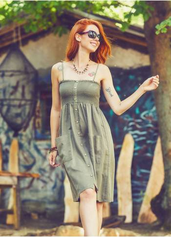 Strappy Khaki Dress