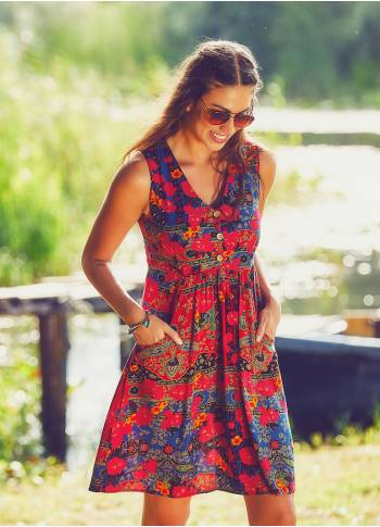 Boho Short Roma Pattern Dress