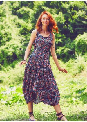 Boho Sleeveless V Neckline Paisley Larci Stella Dress