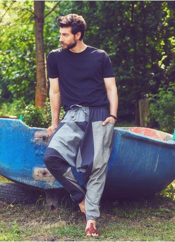 Men's Claret Grey Trousers