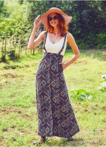 Strappy Boho Khaki Stella Skirt