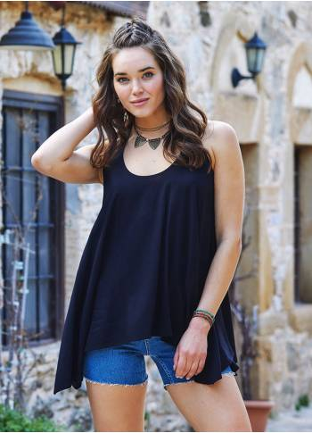 Boho Tunic Black Top