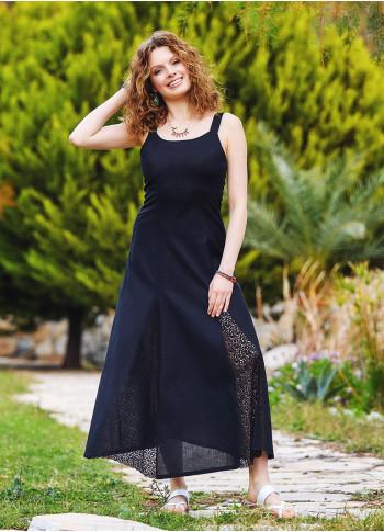 Bohemian Style Maxi Lace Black Dress