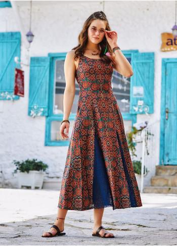 Bohemian Style Maxi Lace Patterned Dress