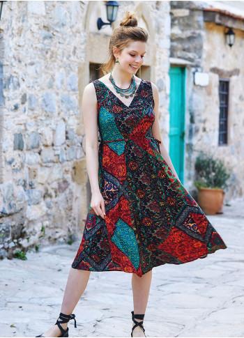 Etnic Patterned Boho Chic Summer Day Dress