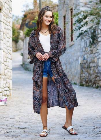 Authentic Patterned Kimono