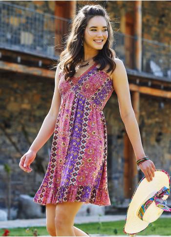 Lace Straps V Neckline Boho Chic Summer Dress