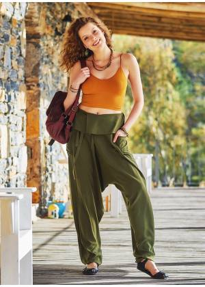 Khaki Thai Women's Fisherman Pants