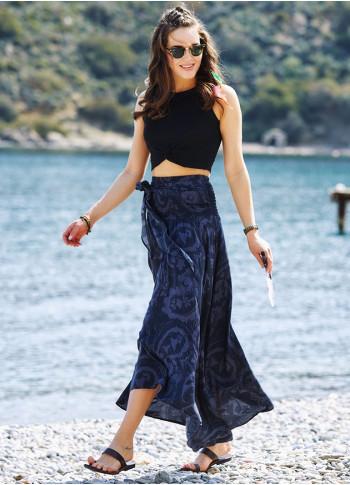 Gray Loose Asymmetric Skirt