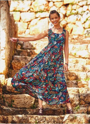 Strap Cross Back Scoop Neck Bohemian Style Wholesale Maxi Dress