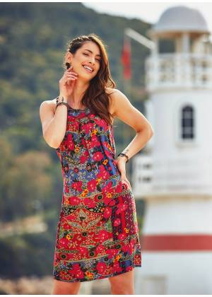 Authentic Red Bohemian Chic Ethnic Dress