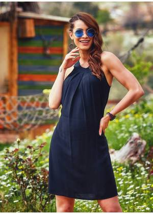 Wholesale Black Bohemian Stylish Authentic Dress