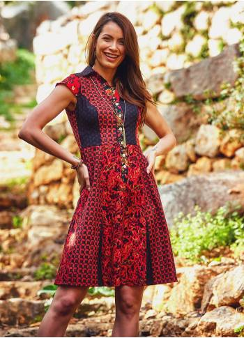 Wholesale Boho Authentic Bohemian Ethnic Pattern  Dress