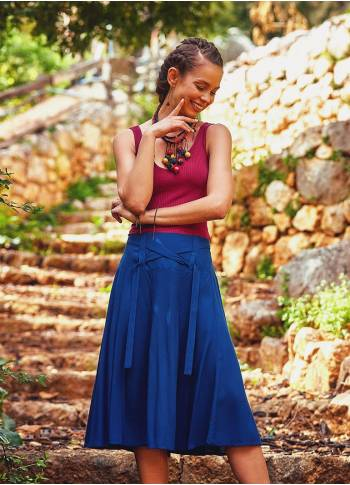 Ethnic Indigo Bohemian Midi Length Authentic Skirt