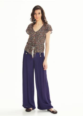 High Waist Palazzo Purple Pants